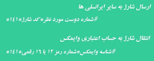 ارسال شارژ ایرانسل